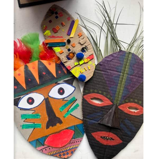 Cómo-hacer-máscaras-africanas-caseras-para-niños