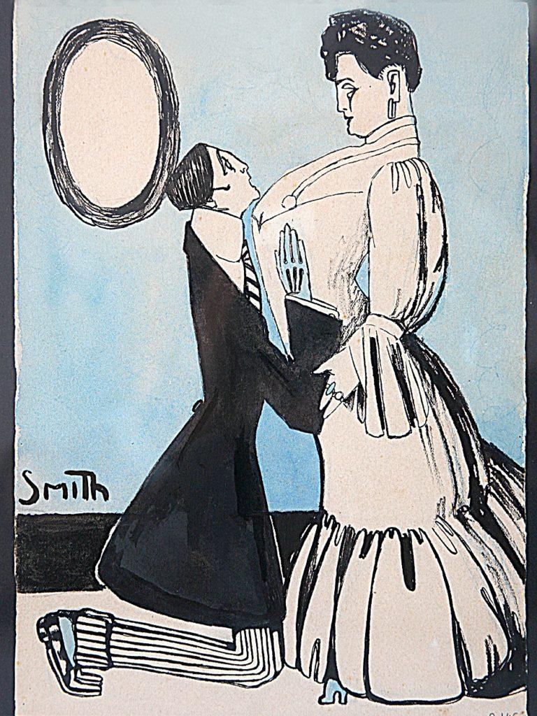 Ismael Smith, Súplica, tinta i aquarel·la s paper