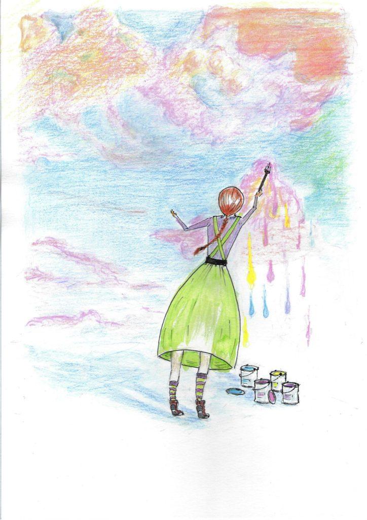Dibuix nena artista